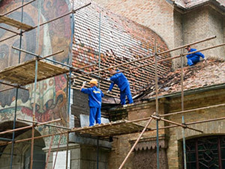 Реставрация храма идёт полным ходом