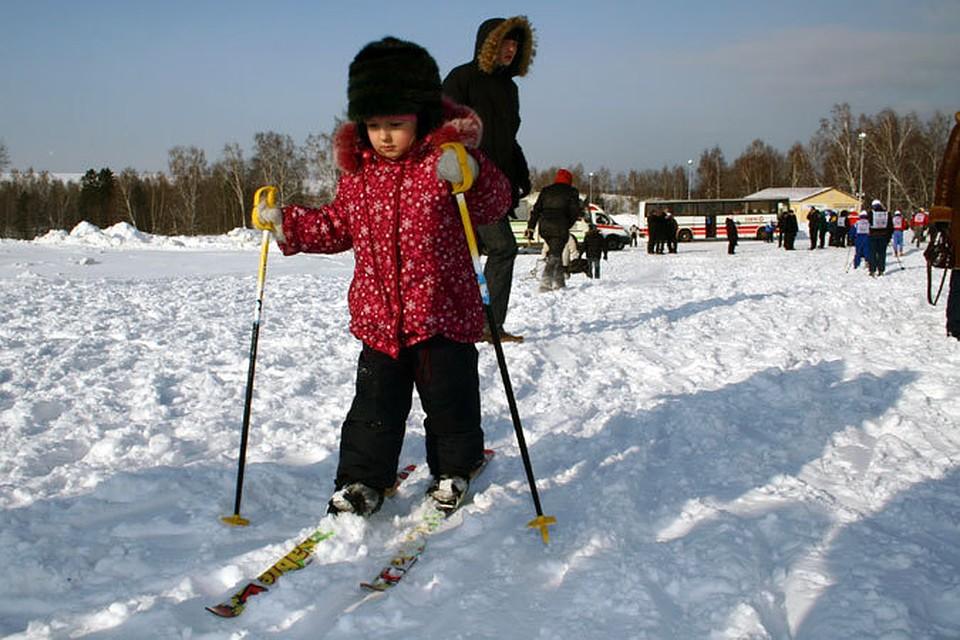 Беговые лыжи на садоводе