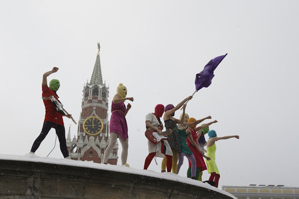 Pussy Riot не теряют популярности за рубежом