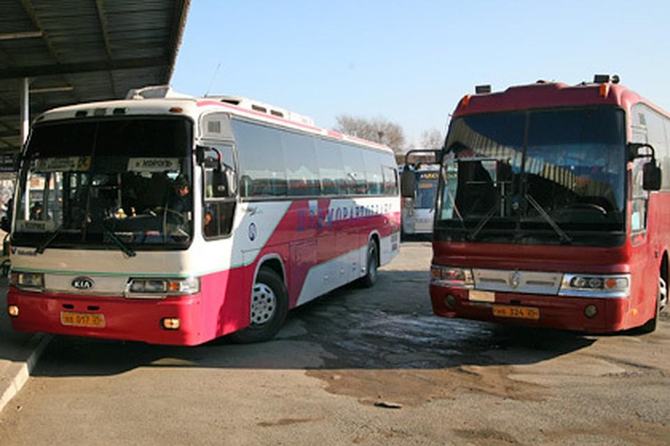 Расписание автобусов от автовокзала Владивостока