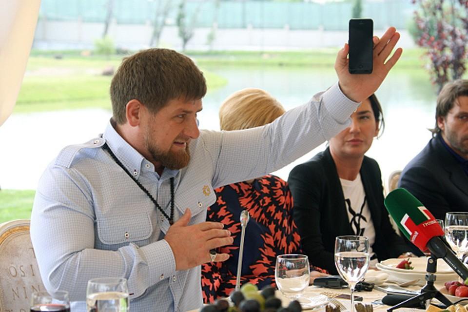 Глава Чечни Рамзан Кадыров встретился с журналистами