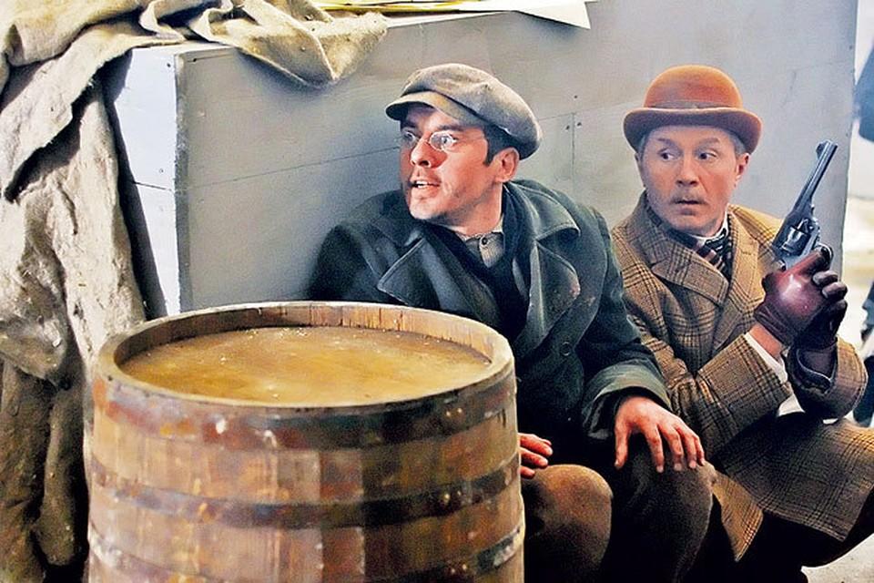 Разгадывая криминальные головоломки, Холмс (Игорь Петренко, слева) и Уотсон (Андрей Панин) будут не только размышлять, но и действовать.