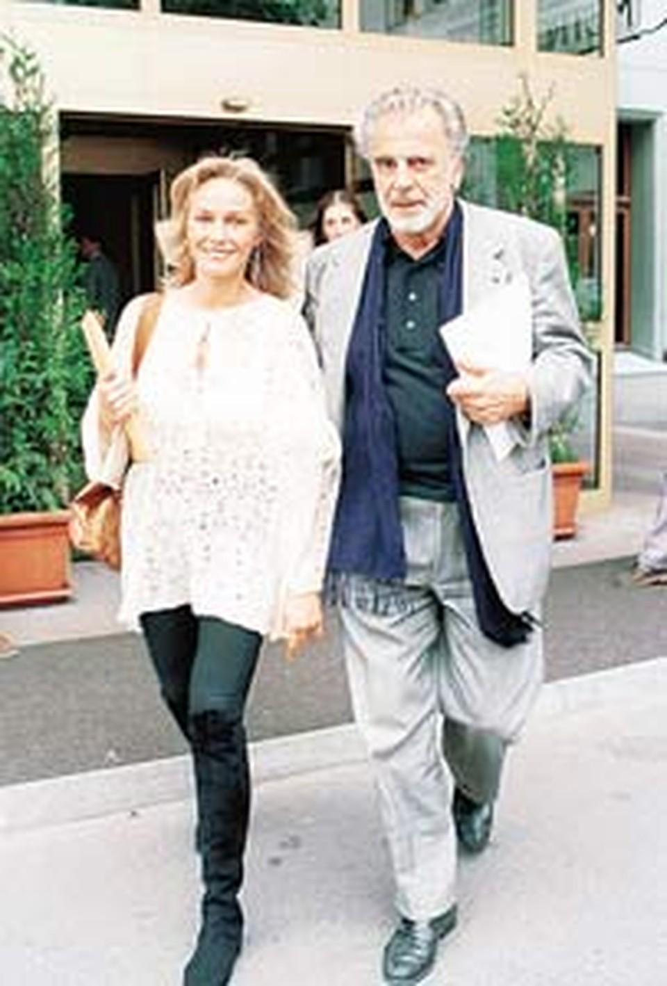 Наталья Андрейченко  со своим мужем режиссером Максимилианом Шеллом.