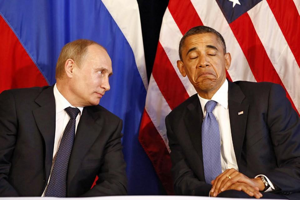 Президент США Барак Обама сегодня ночью пообщался по телефону с Владимиром Путиным