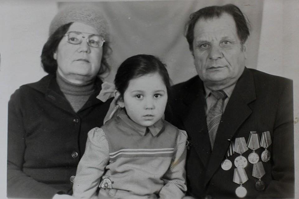 Алексей Камозин с супругой и дочерью, 80-е годы.