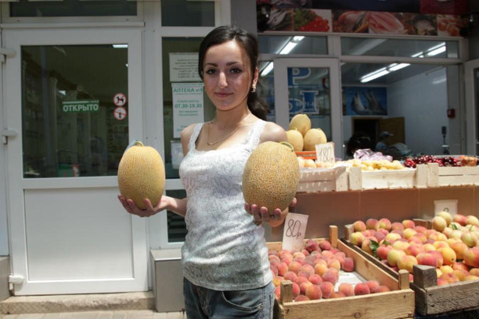 Дыни продают от 40 рублей за килограмм