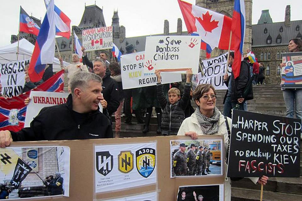 В Канаде русские эмигранты провели уже немало митингов в разных городах, но этот отличался очень хорошей подготовкой