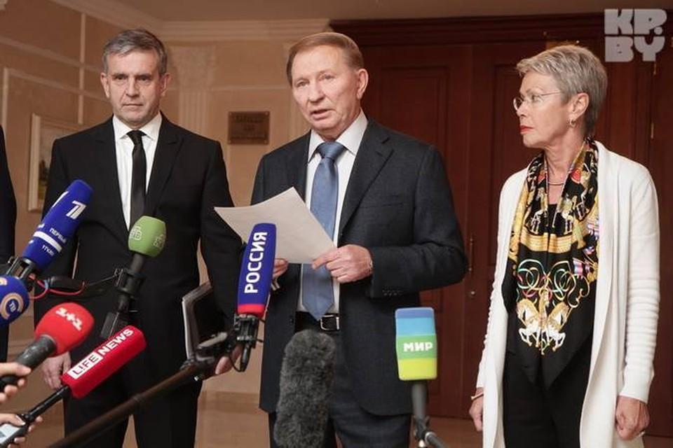 Леонида Кучму привезли на минскую встречу контактной группы на «свадебном автомобиле»