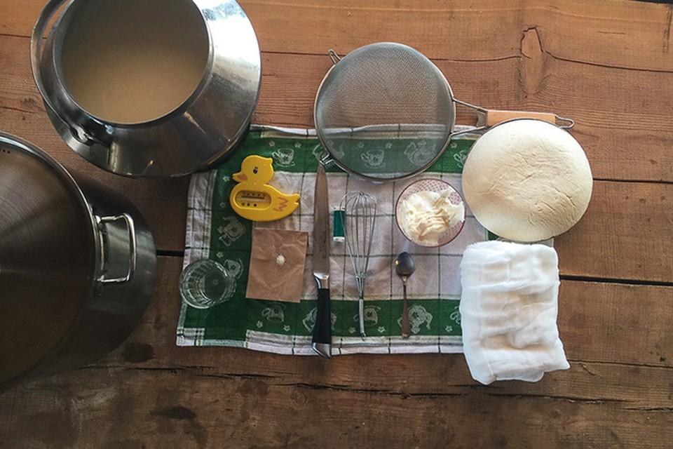 Олег Сирота продолжает ставить эксперименты по домашнему сыроварению. Фото Олега Сироты