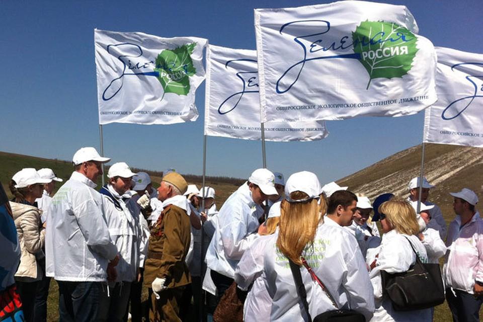"""В честь каждого из 27 миллионов погибших представители зелёного движения, партнеры и все неравнодушные посадят дерево. Фото: Пресс-служба """"Зеленой России"""""""