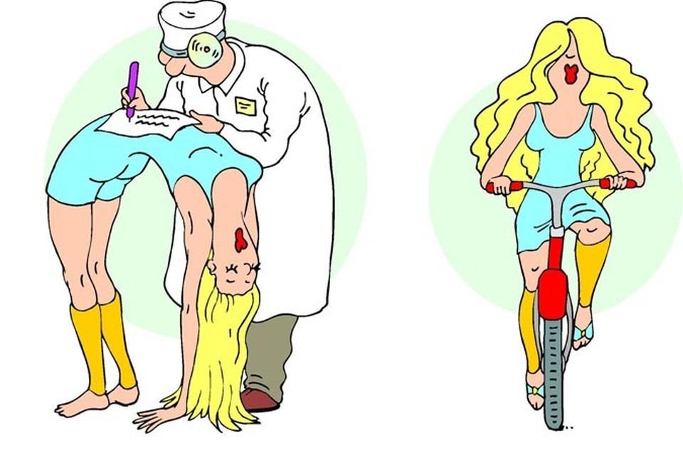 Лучше не мучить организм диетами, а заняться спортом! Рисунок: Екатерина Мартинович.