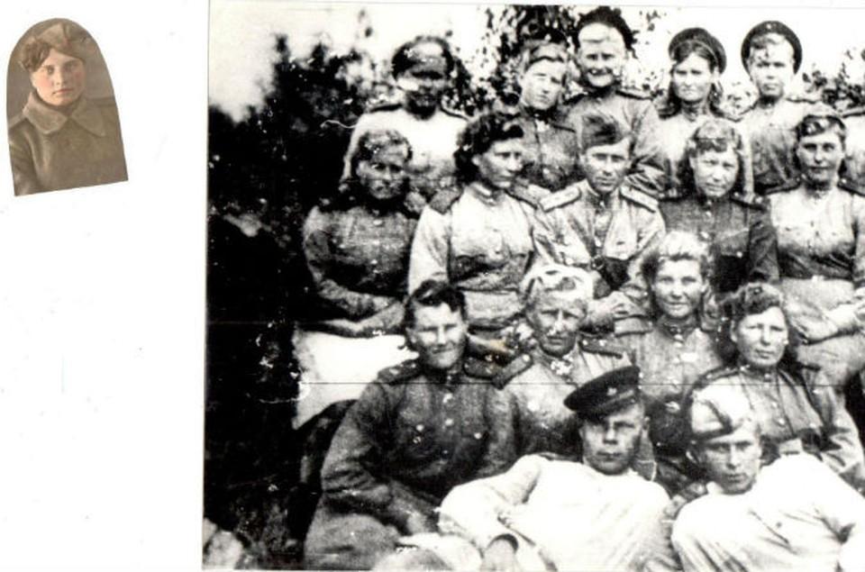 Это единственная фотография времен войны, на которой есть Зоя Ивановна. Она первая во втором ряду.