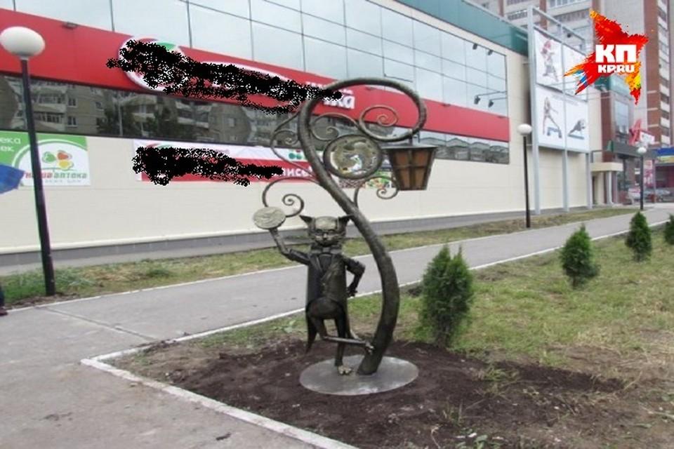 """Третий памятник Йошкиному коту в Йошкар-Оле. Фото """"Марийская правда"""""""