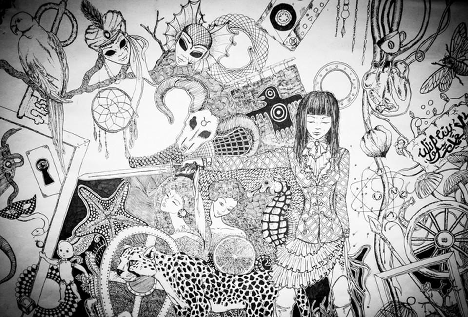 Многие картины выполнены в черно-белых тонах, олицетворяя юношеский максимализм