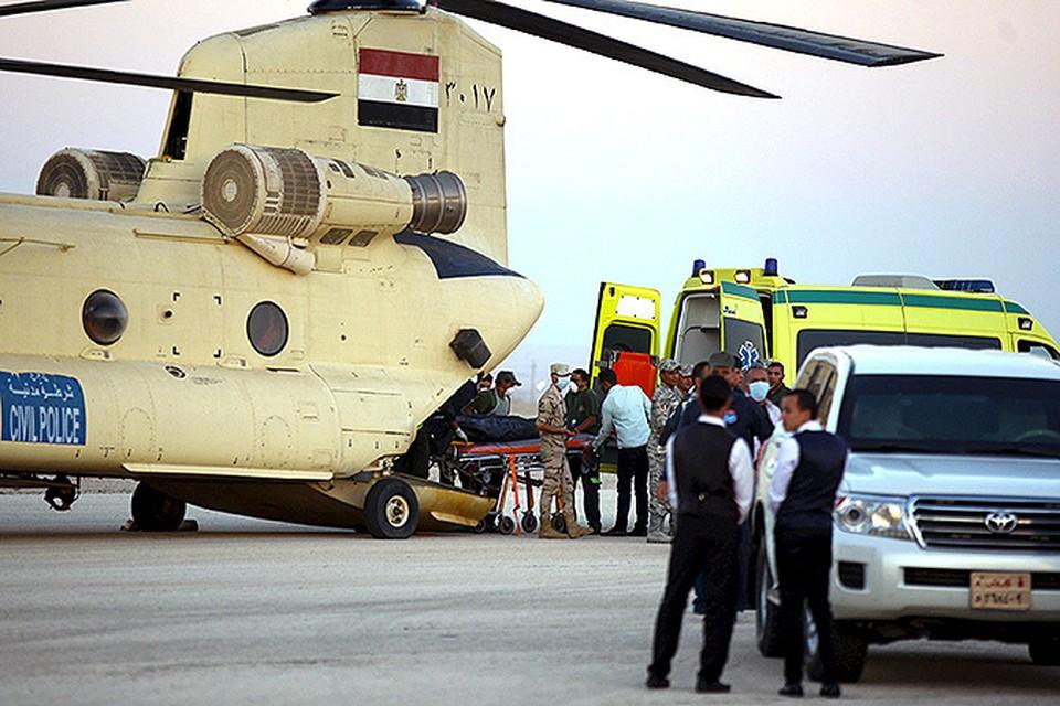 Эвакуация тел жертв катастрофы производится силами египетских ВВС