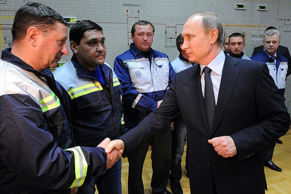 Путин подключил Крым к энергосистеме России