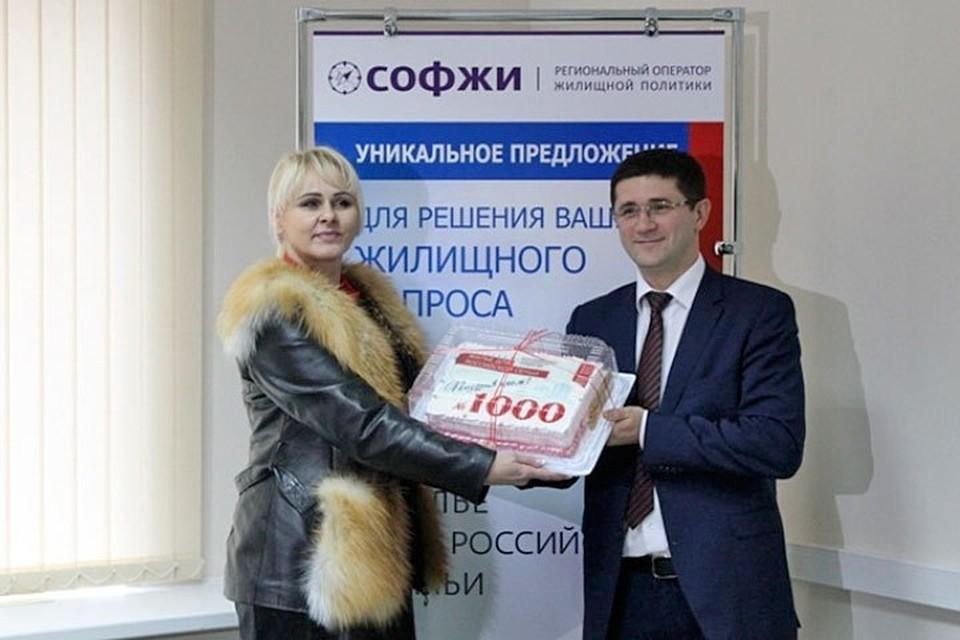 Оксана Дягилева стала юбилейной участницей госпрограммы.