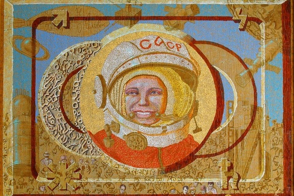 На выставке Алексей Акиндинов представит картину «Первый. Портрет Юрия Гагарина».
