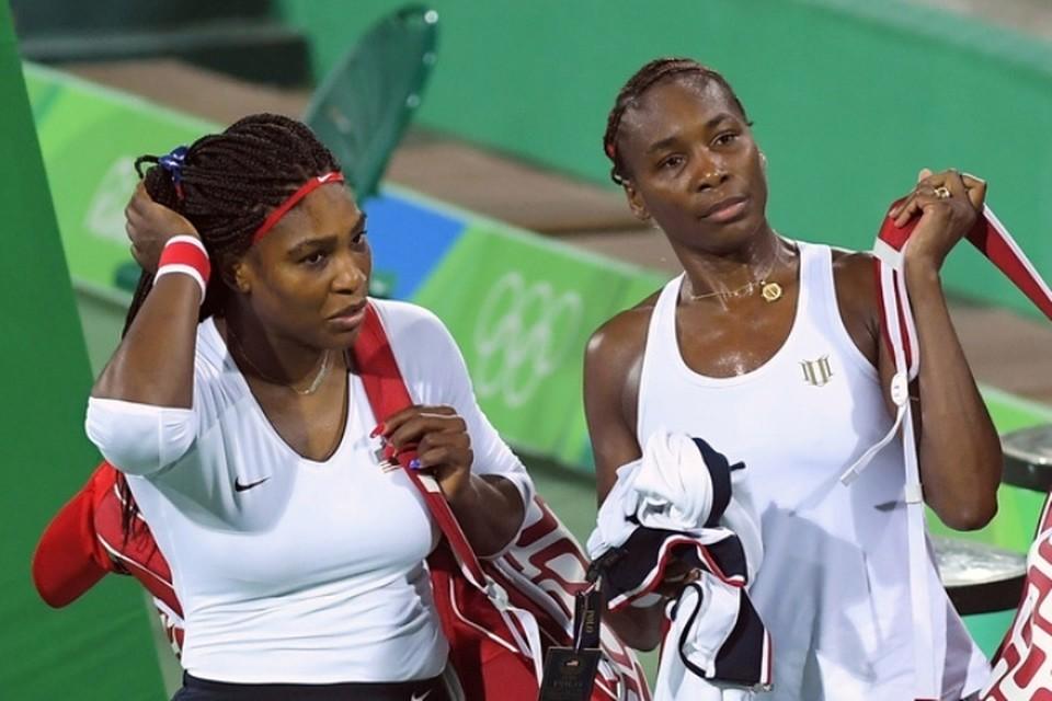 Серена и Винус Уильямс вылетели из олимпийского теннисного турнира в первом круге