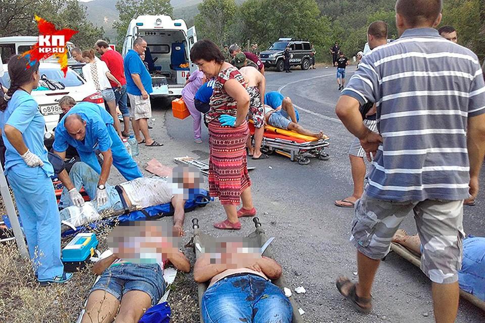 По предварительным данным, в автобусе находилось 25 пассажиров.
