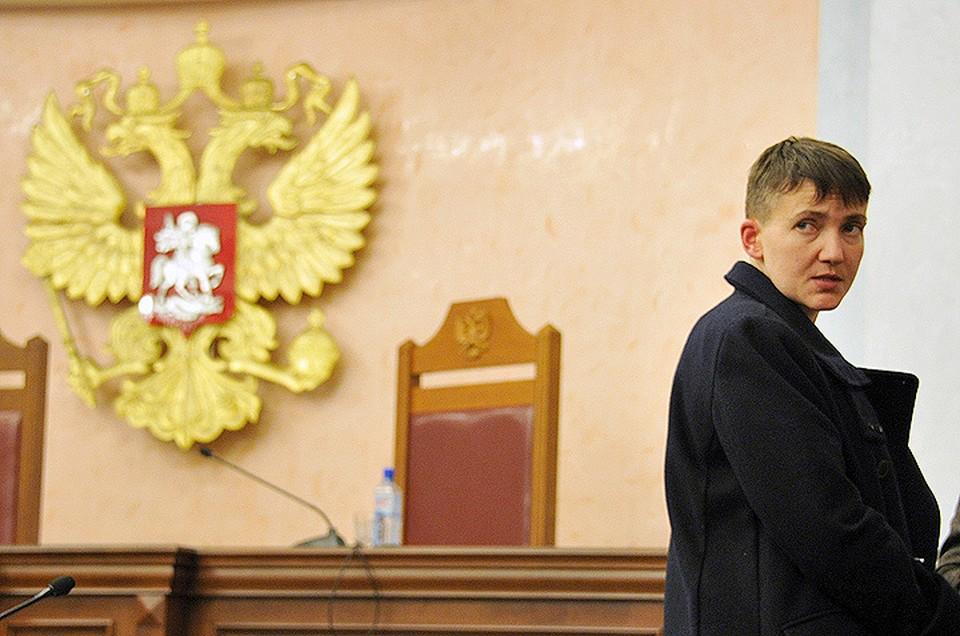 Надежда Савченко приехала в Москву чтобы выступить по делу украинских националистов, обвиняемых в боевых действиях против российских солдат в годы чеченской кампании.