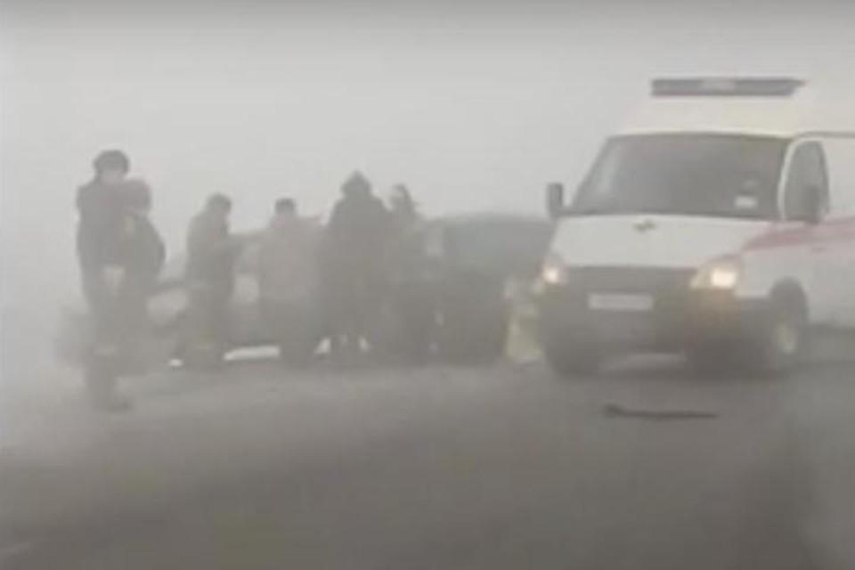 Toyota, Subaru и Skoda столкнулись под Усольем-Сибирским, в ДТП пострадали два человека
