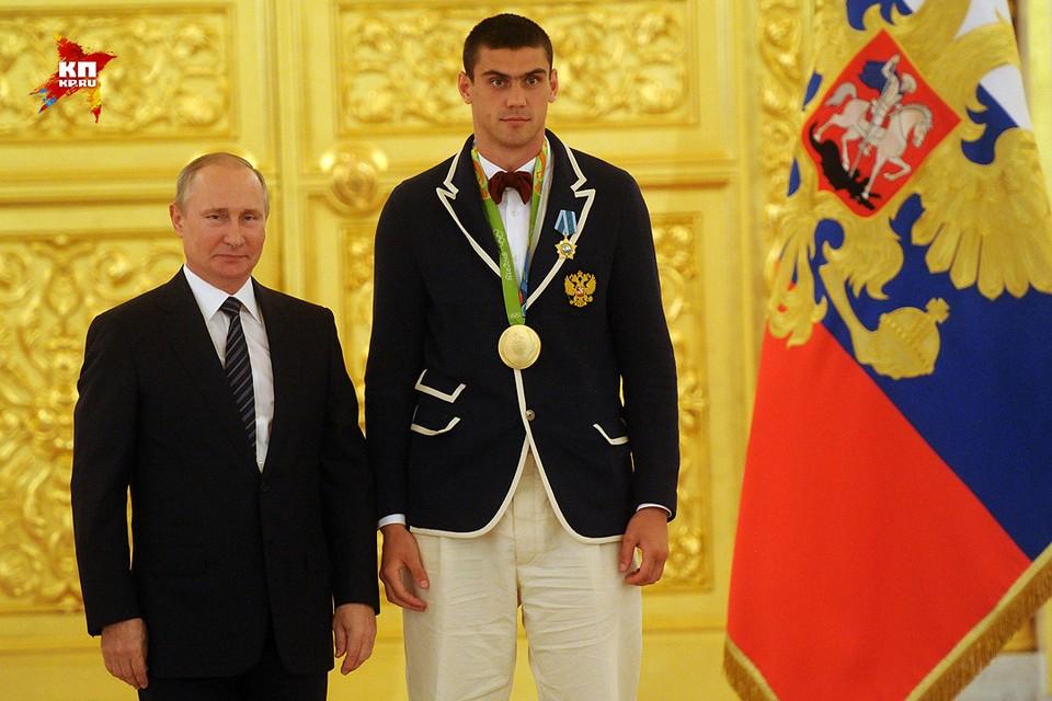 Президент Путин и олимпийский чемпион по боксу Евгений Тищенко