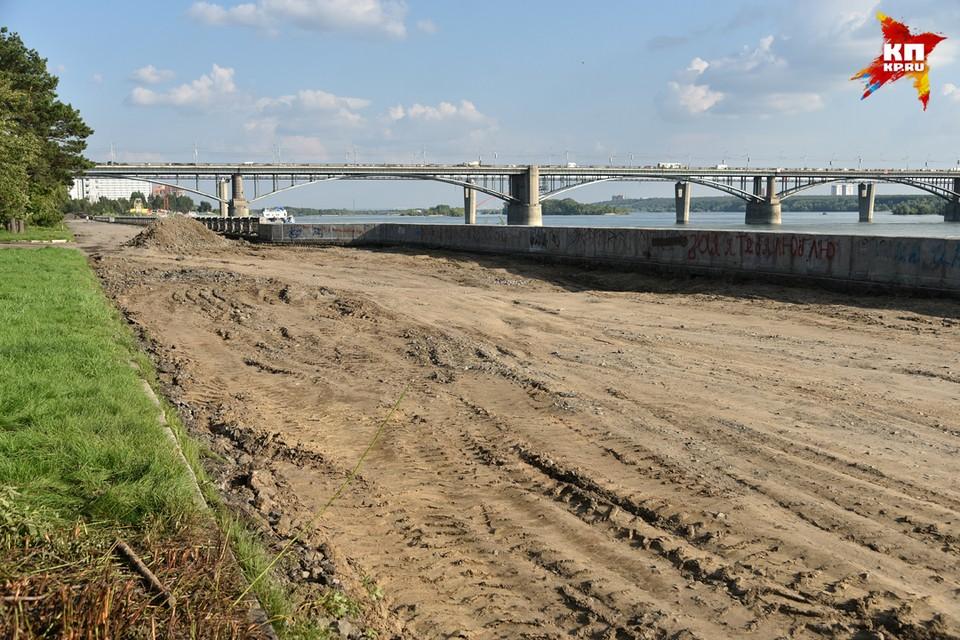 В Новосибирске начались работы по благоустройству Михайловской набережной