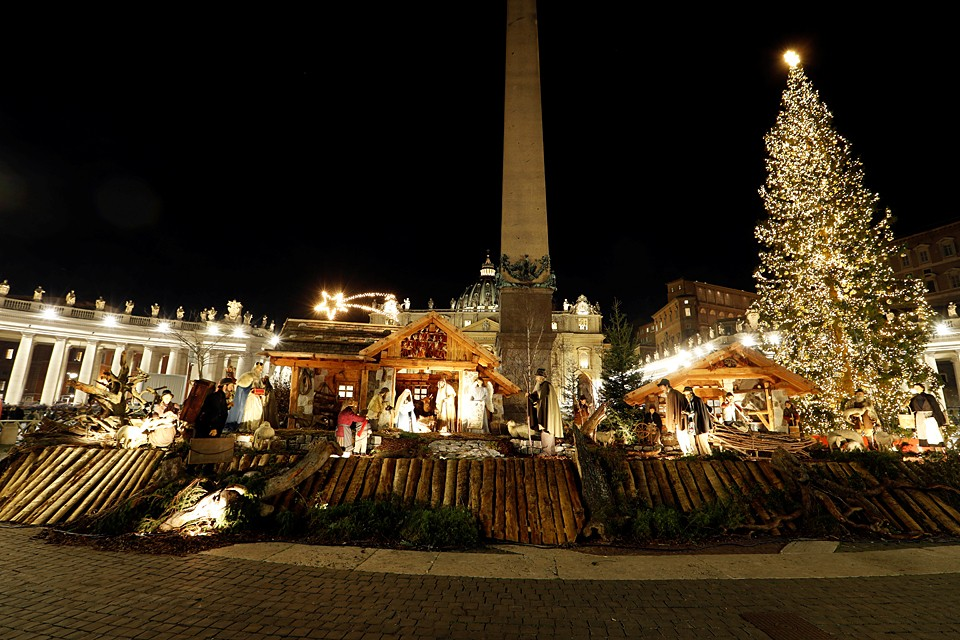 На главной площади Ватикана установили рождественскую елку
