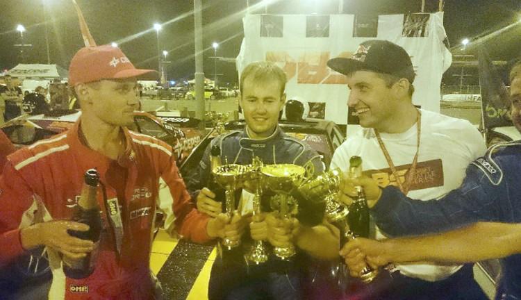Победители DBS 2015 Максим Сулимин, Анатолий Захарченко и Александр Самарцев. Фото: instagram.com/drift_battle_series