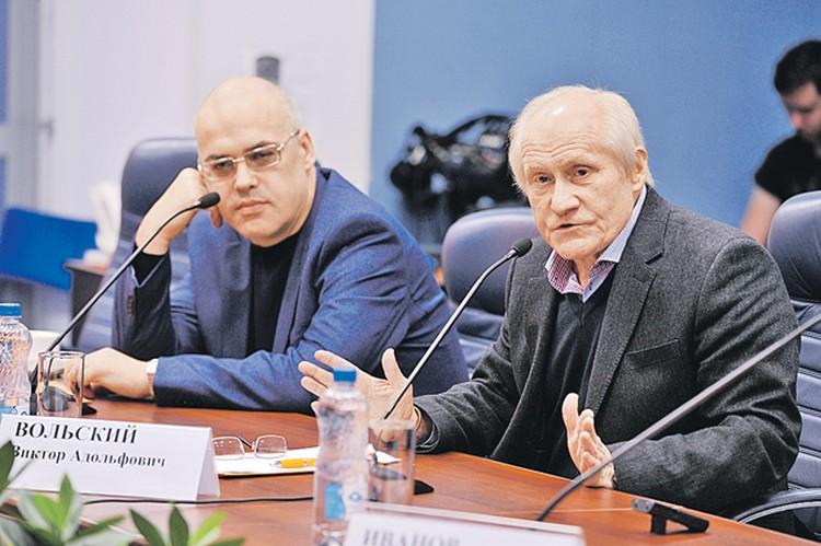 Андрей Литягин (слева) и Виктор Вольский.