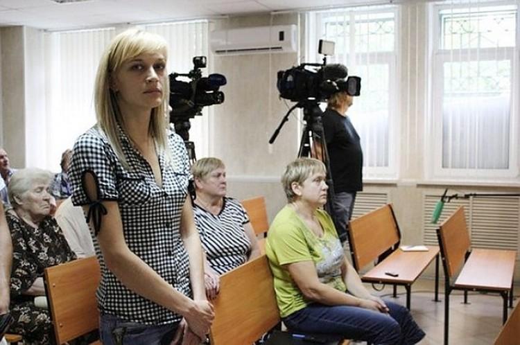 Семья Полухиных на вынесении приговора