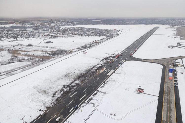 Место крушения самолета, съемка с воздуха Фото: Денис ДЕМКОВ