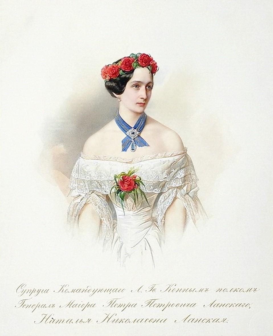 В. Гау. Портрет Н.Н. Ланской. 1849.
