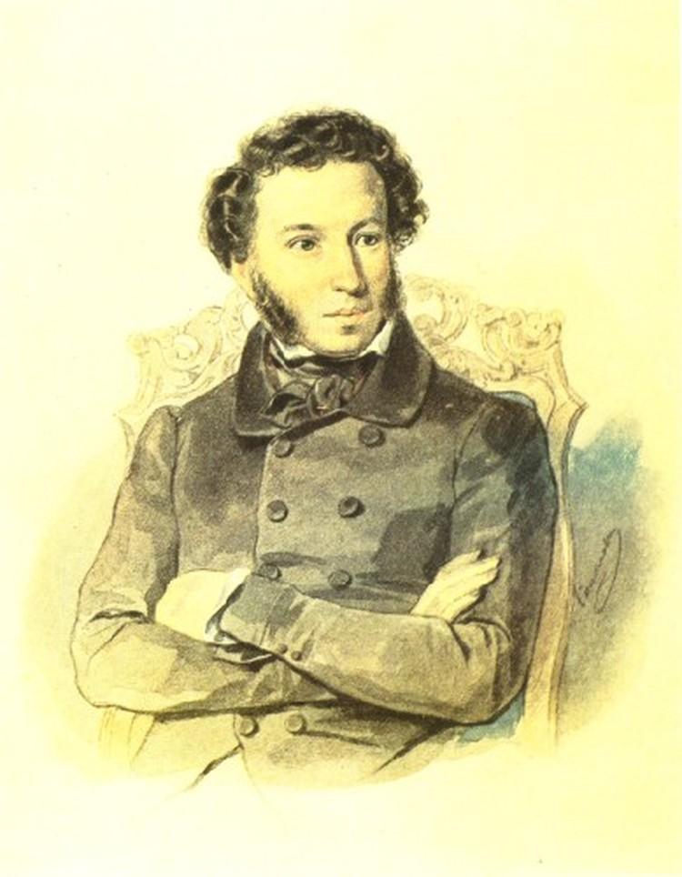 П.Ф.Соколов. Портрет Пушкина. 1836 г.