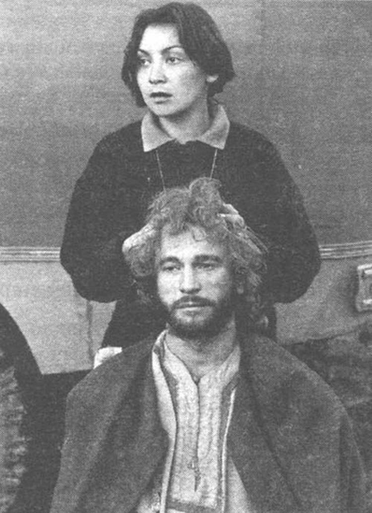 Игорь Тальков с женой Татьяной.