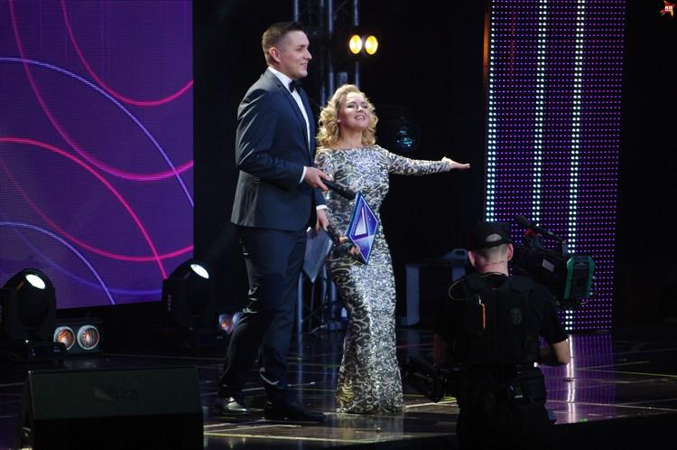Ведущие гала-концерта Руслан Шишкин и Екатерина Реутова.
