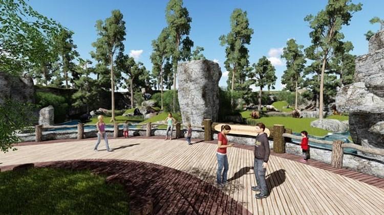 Эскиз будущего зоопарка. Фото: пресс-служба краевой администрации.