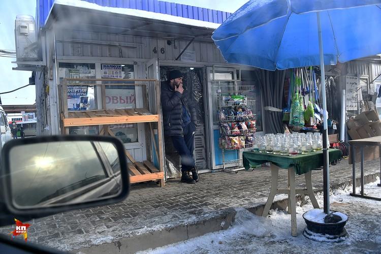 Будничная жизнь рынка в Грозном