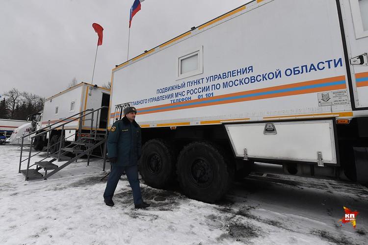 Так снаружи выглядит подвижной пункт управления МЧС по Московской области