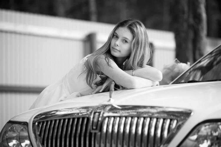 """Такой была юная модель в начале своего пути. Фото: личная страницы Лизы Адаменко """"ВКонтакте"""""""