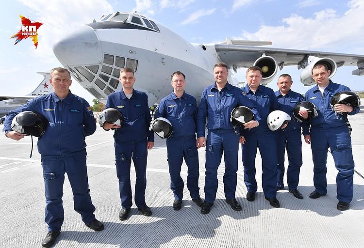 Экипаж Ил-78 в полном составе.