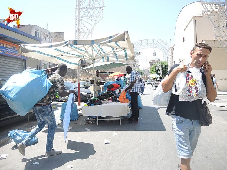 Африканский рынок в Палермо