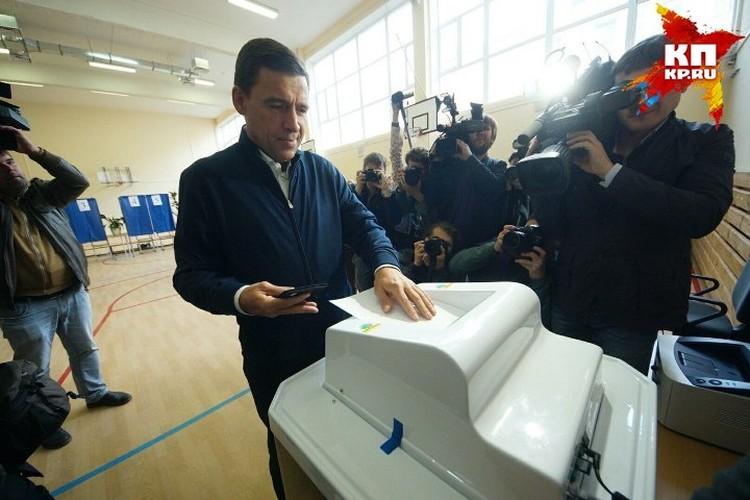 Евгений Куйвашев и сам поучаствовал в выборах губернатора