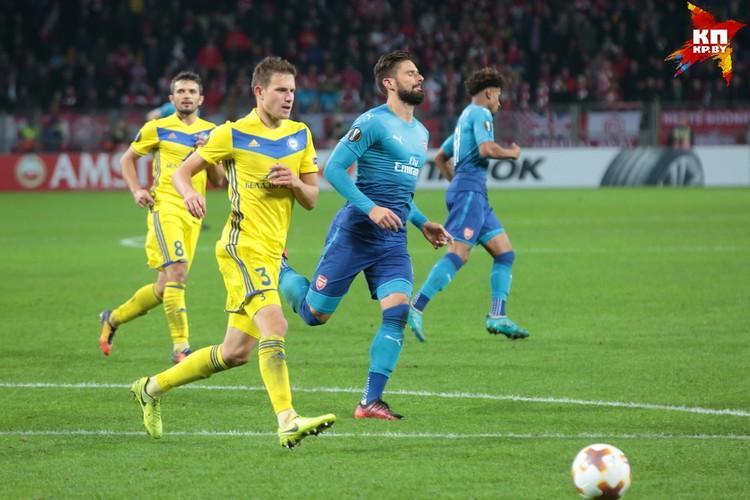 """Оливье был одним из самых известных игроков, вышедших в составе """"Арсенала"""" на """"Борисов-Арене""""."""