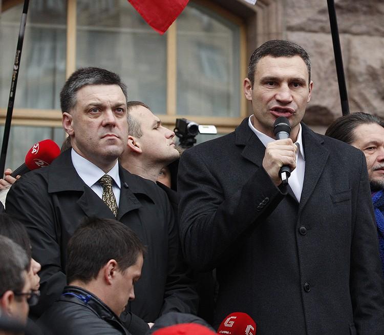 Олег Тягнибок и Виталий Кличко хотели утопить Крым в крови. Фото ТАСС/ Максим Никитин
