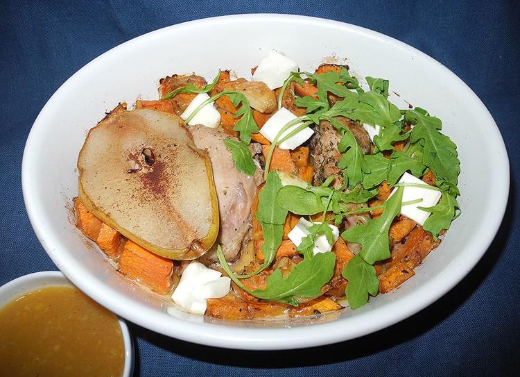 «Праздничное» блюдо из тыквы.