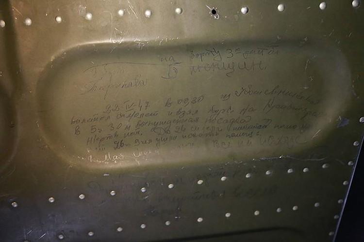 Надписи на обшивке самолета. Фото: Русское географическое общество