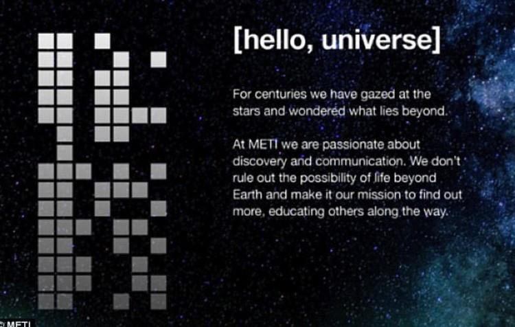 Послание зашифровано двоичным кодом, отправители полагают, что инопланетяне разберутся.