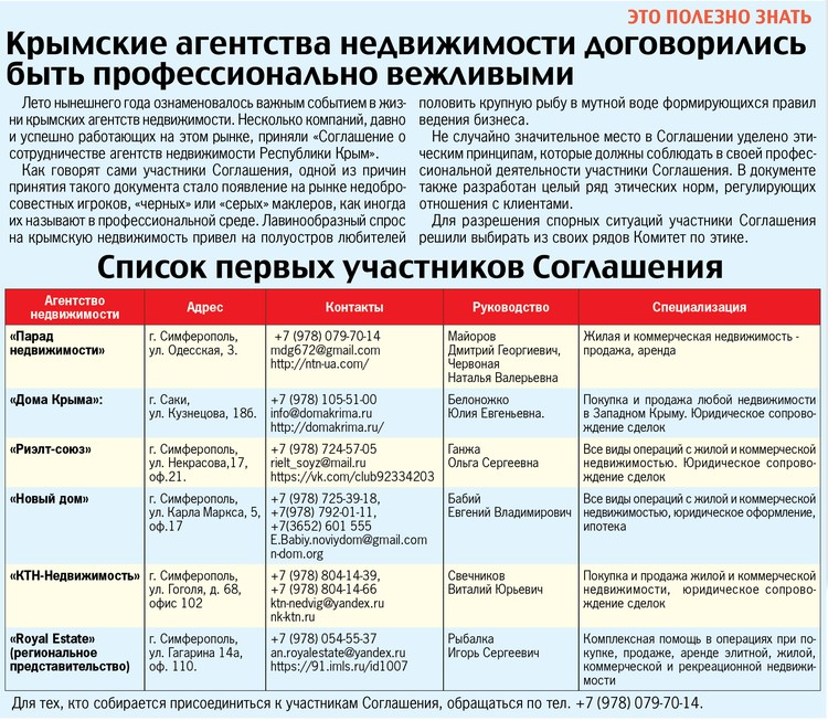 Список первых участников Соглашения.